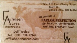 chosen acres business card